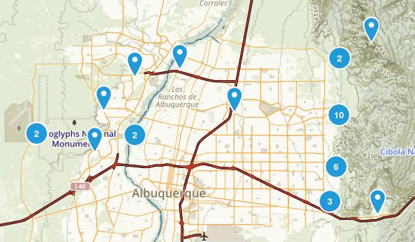 Albuquerque, New Mexico Views Map
