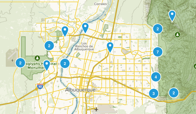 Albuquerque, New Mexico Walking Map