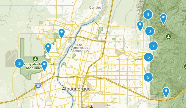 Map of Trails near Albuquerque, New Mexico | AllTrails