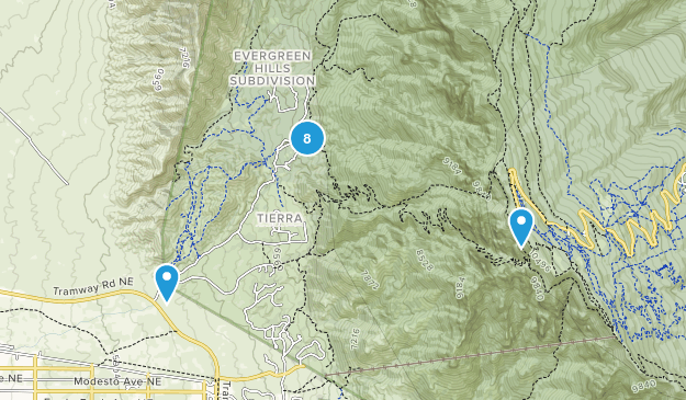 Bernalillo, New Mexico Hiking Map