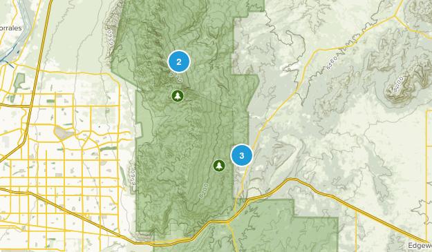Cedar Crest, New Mexico Birding Map