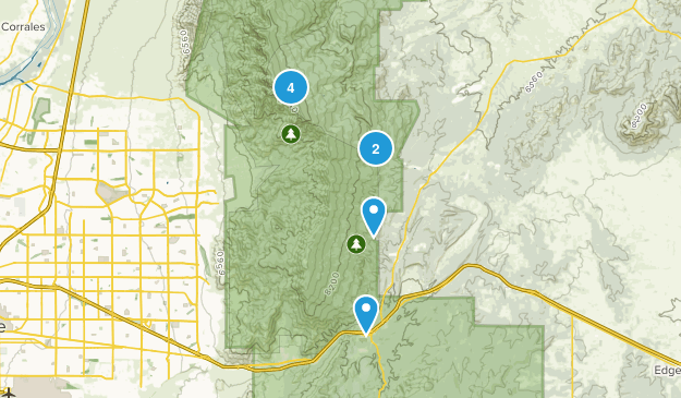 Cedar Crest, New Mexico Forest Map