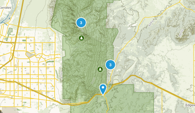 Cedar Crest, New Mexico Nature Trips Map