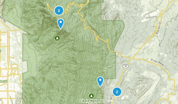 Cedar Crest, New Mexico Walking Map