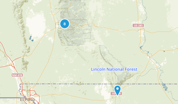 Cloudcroft, New Mexico Hiking Map