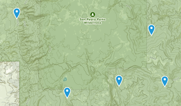 Gallina, New Mexico Birding Map