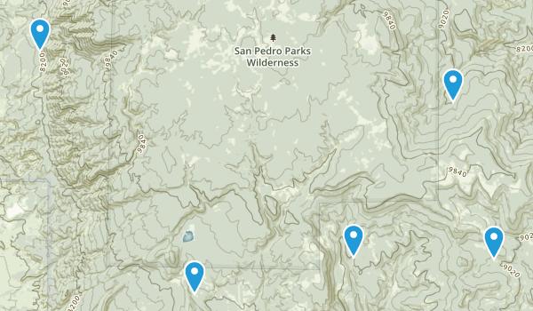 Gallina, New Mexico Walking Map