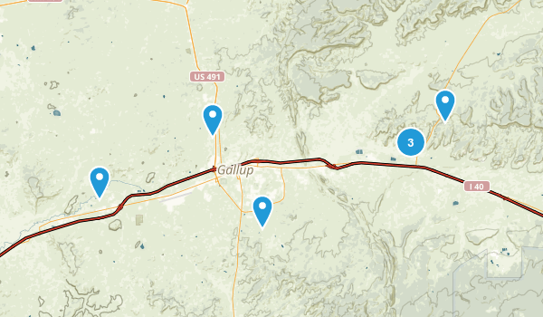 Gallup, New Mexico Hiking Map