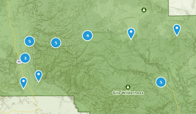 Glenwood, New Mexico Bird Watching Map