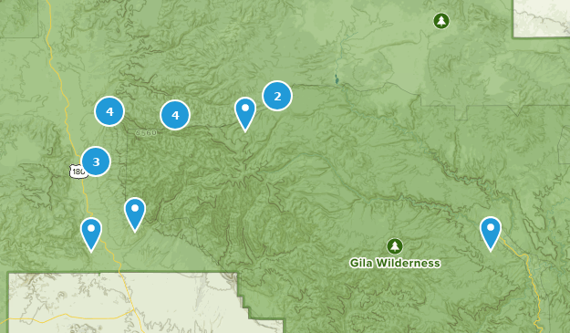 Glenwood, New Mexico Hiking Map