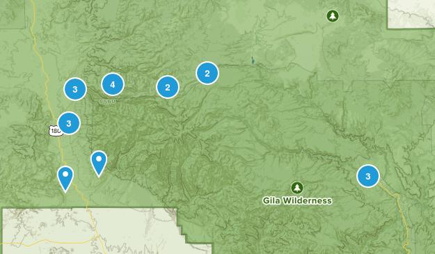 Glenwood, New Mexico Views Map