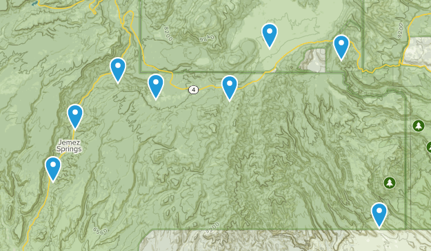 Jemez Springs, New Mexico Hiking Map