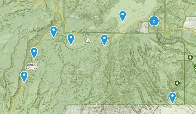 Jemez Springs, New Mexico Hiking Map