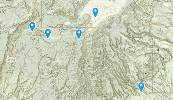 Jemez Springs, New Mexico Nature Trips Map