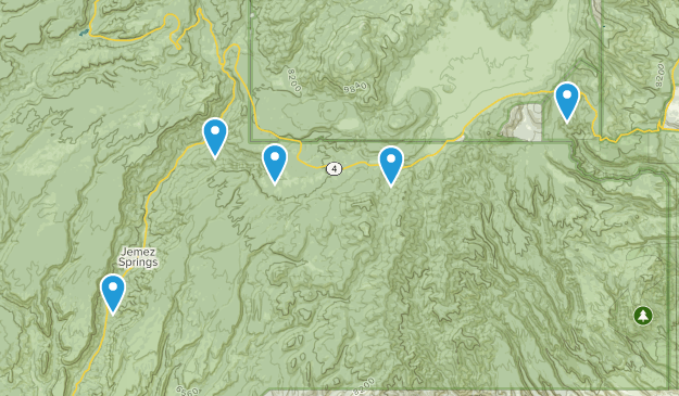 Jemez Springs, New Mexico Trail Running Map