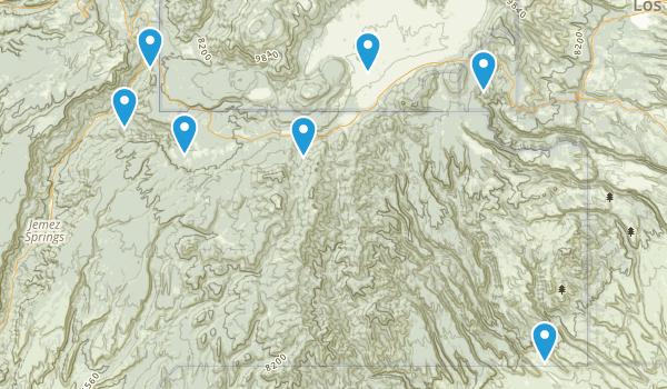 Jemez Springs, New Mexico Walking Map