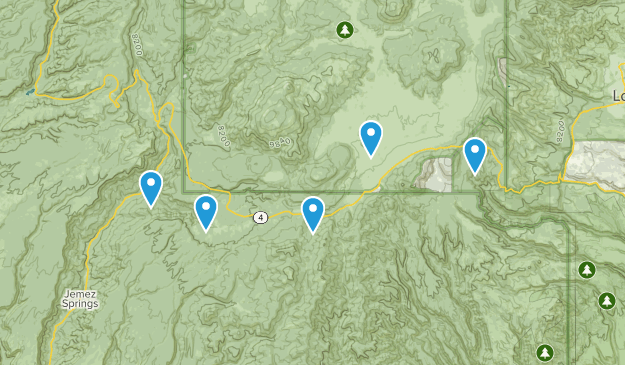 Jemez Springs, New Mexico Wildlife Map