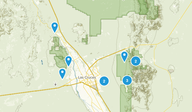 Las Cruces, New Mexico Dogs On Leash Map
