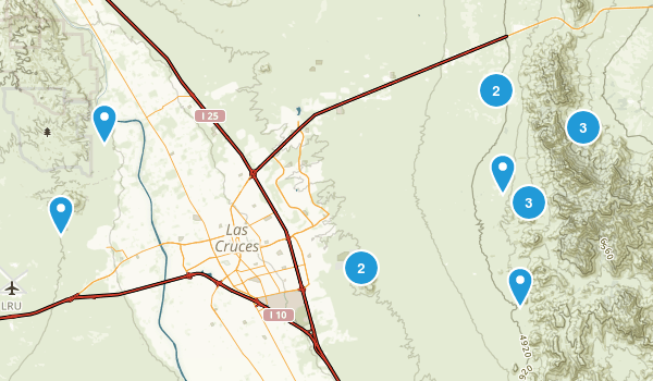 Las Cruces, New Mexico Nature Trips Map