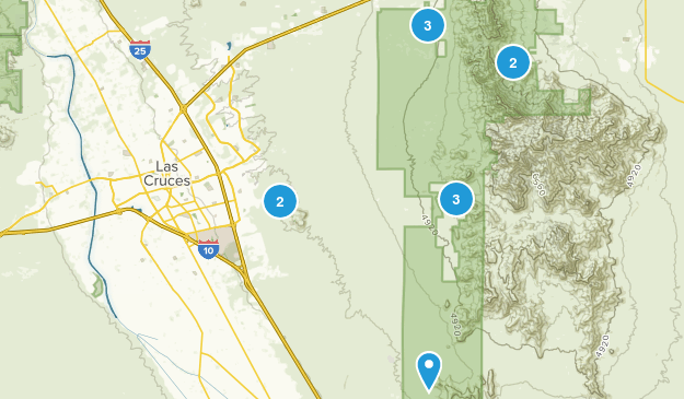 Las Cruces, New Mexico Trail Running Map