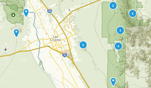 Las Cruces, New Mexico Wild Flowers Map