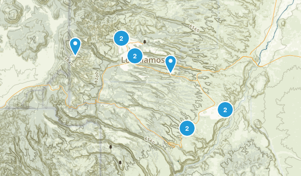 Los Alamos, New Mexico Dogs On Leash Map