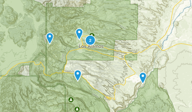Los Alamos, New Mexico Forest Map
