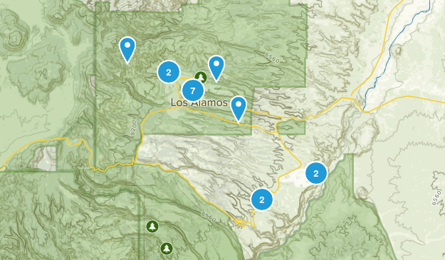 Los Alamos, New Mexico Nature Trips Map