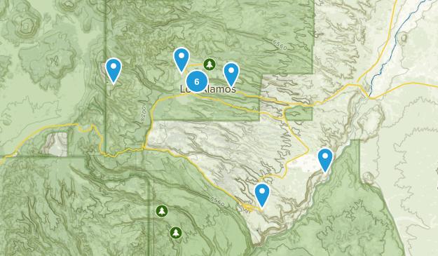 Los Alamos, New Mexico Trail Running Map