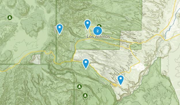 Los Alamos, New Mexico Wildlife Map