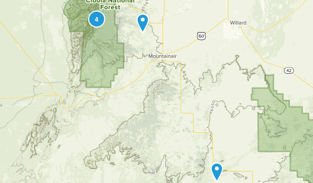 Mountainair, New Mexico Hiking Map
