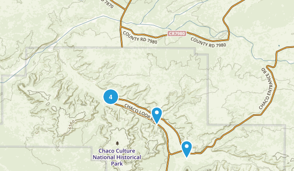 Nageezi, New Mexico Camping Map