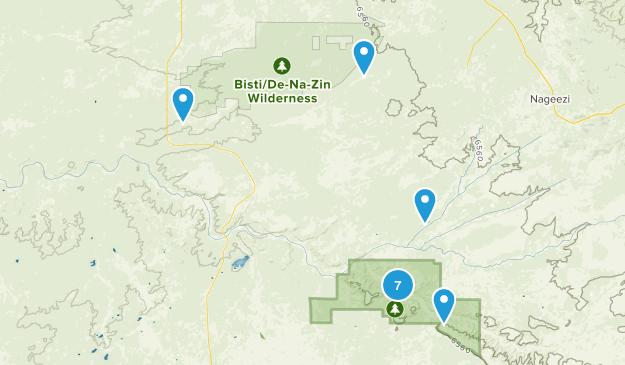 Nageezi, New Mexico Hiking Map