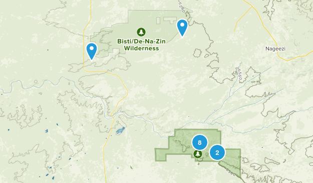 Nageezi, New Mexico Kid Friendly Map