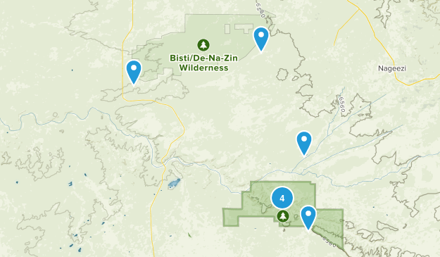 Nageezi, New Mexico Nature Trips Map