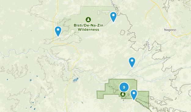 Nageezi, New Mexico Walking Map