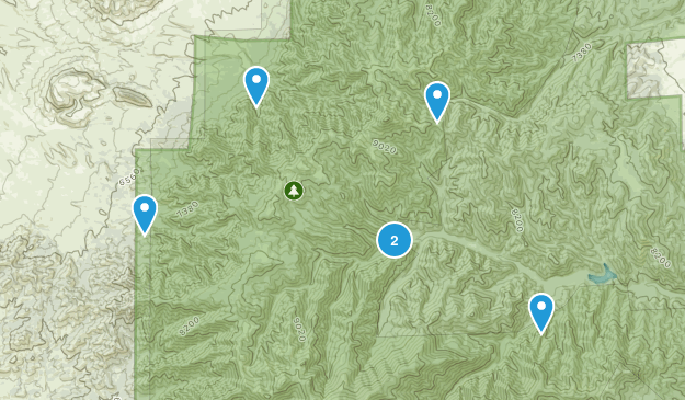 Nogal, New Mexico Hiking Map