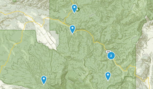 Penasco, New Mexico Hiking Map