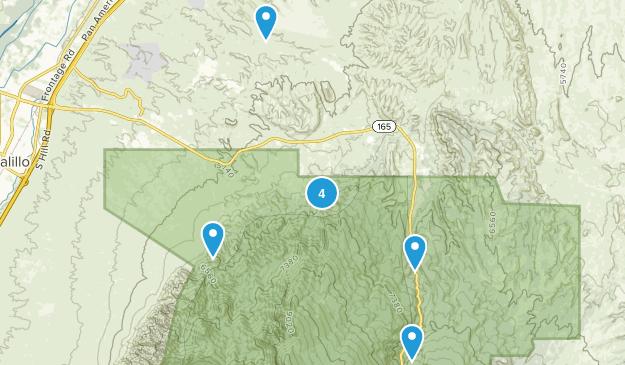 Placitas, New Mexico Hiking Map