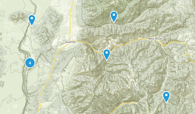 Questa, New Mexico Nature Trips Map