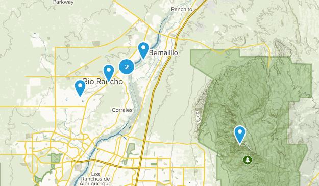 Rio Rancho, New Mexico Hiking Map