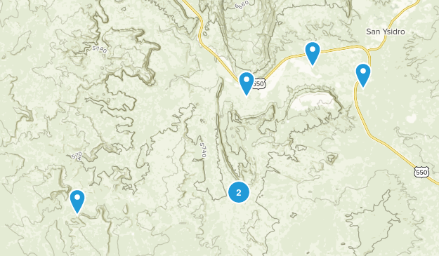 San Ysidro, New Mexico Walking Map