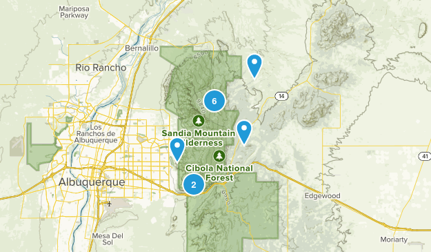 Sandia Park, New Mexico Forest Map