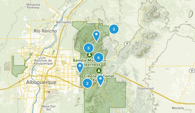 Sandia Park, New Mexico Hiking Map