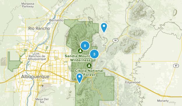 Sandia Park, New Mexico Kid Friendly Map