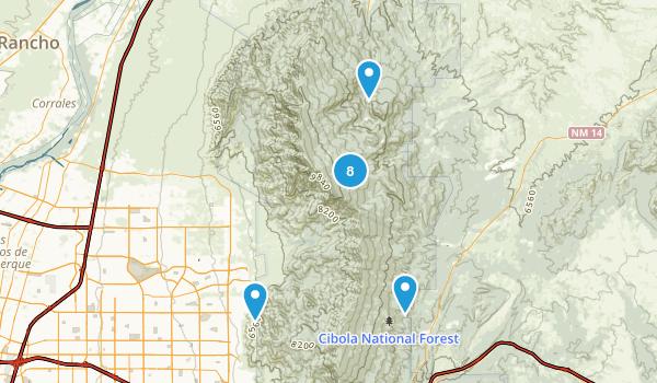 Sandia Park, New Mexico Nature Trips Map