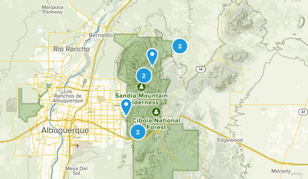 Sandia Park, New Mexico Trail Running Map