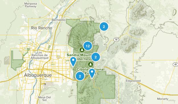 Sandia Park, New Mexico Views Map