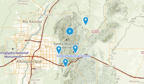 Sandia Park, New Mexico Walking Map