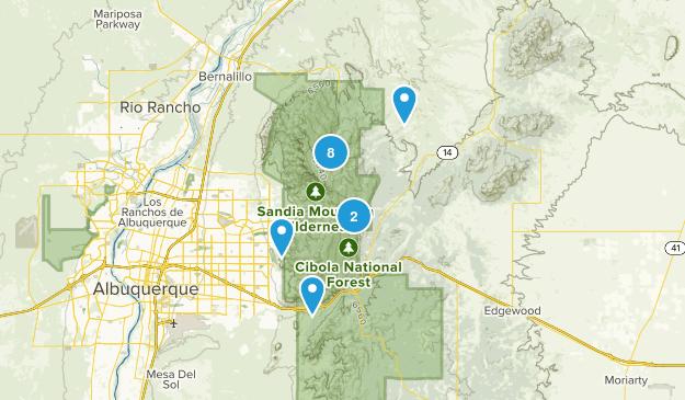 Sandia Park, New Mexico Wildlife Map